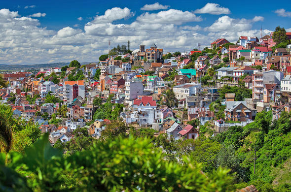 Antanaanrivo city vista. Madagascar