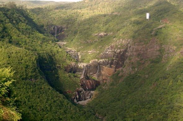 The 7 Waterfalls is an ideal spot for hiking in Mauritius.