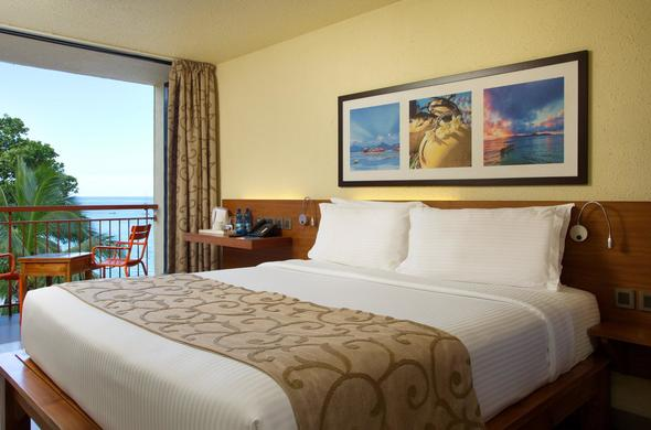 Standard Room at Coral Strand Hotel with ocean view.