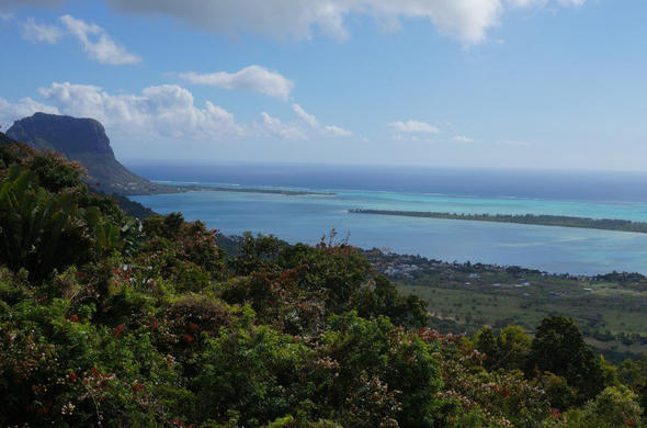 Le Morne Brabant in Mauritius is a popular hiking trail.