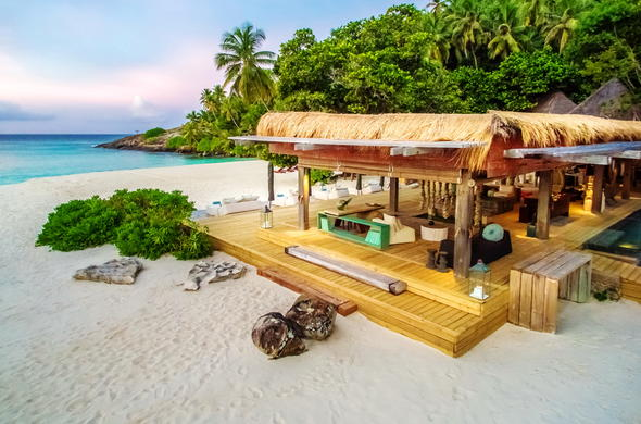 Lounge around North Island Seychelles.