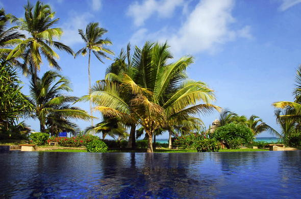 Stunning views from the pool at the Palms Zanzibar.