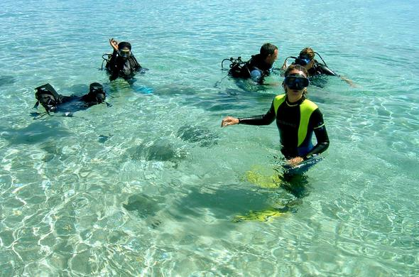 Scuba diving in the Madagascar waters of Nosy Be.