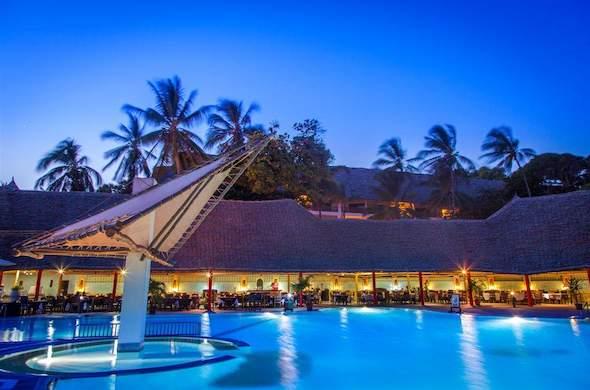 Turtle Bay Beach Club Pool At Night